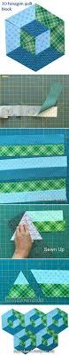 Best 25+ Quilting ideas ideas on Pinterest | Quilting, Baby quilt ... & 2-minute video tutorial: 3D hexagon quilt block Adamdwight.com