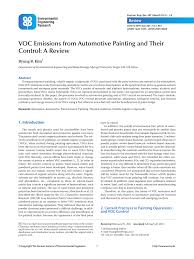 pdf voc emissions from automotive painting and their control a review