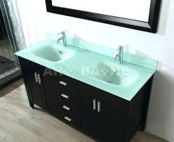 glass vanity top with integrated sink art bathe double bathroom top intended for glass vanity top