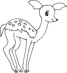 Small Picture Cute deer coloring pages for kids ColoringStar