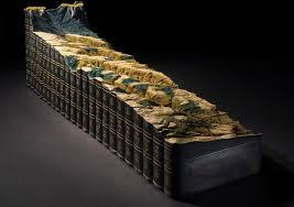au landscape artwork with old book by guy laramée