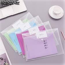 <b>EZONE 1PC A4</b> Transparent Folder Button <b>File</b> Bag Large Capacity ...