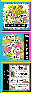17 best ideas about verb words academic vocabulary great to enhance all spanish regular ar present tense verb activities colorful for classroom decor