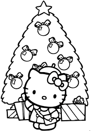 Small Picture Free Coloring Pages Hello Kitty Christmas Gianfredanet
