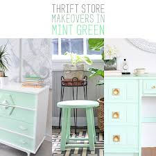Mint Green Furniture Makeovers Archives The Cottage Market