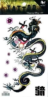 Nipitshop 1 Sheet Chinese Dragon Kung Fu Martial Arts Waterproof