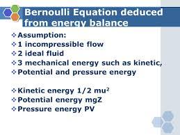 53 bernoulli equation deduced from energy balance assumption