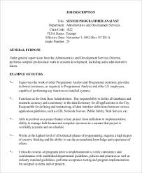 Senior Programmer Job Description Senior Programmer Job Description Sample 100 Examples in PDF 2