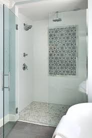 accent tile bathroom the shower features a classic combination of marble and white subways tiles grace accent tile