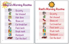 Kids Routine Chart Free Morning Routine Download Free Clip Art Free Clip Art