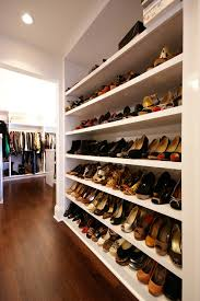 diy shoe shelves with white recessed light trims closet contemporary and recessed lighting
