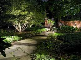garden outdoor lighting. Landscape Lighting Is An Important Safety Element For Any Outdoor Space. In This Garden, Garden O