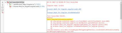 selenium code with throws error in