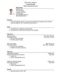 Free Basic Resume Builder Resume Template Directory