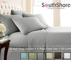 extra deep pocket queen sheets. Plain Extra Amazoncom Southshore Fine Linens Extra Deep Pocket Sheet Set Queen 6  Piece Steel Gray Home U0026 Kitchen Inside Queen Sheets P