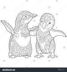 Coloring Page Of Young Emperor Penguins