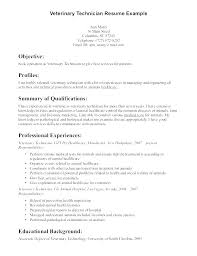 Plc Technician Resume Sample Vet Tech Resumes Veterinary Technician