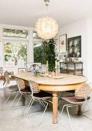 mid century modern love dining room