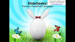 Bunny Symbol Of Easter Day Holiday Powerpoint Templates Ppt