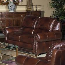 large picture of usa premium leather furniture 4650 20 loveseat amaretto