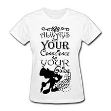 Small Picture Tee Womens Pinocchio Jiminy Cricket Quotes Tshirts Shirt at