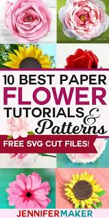 Flower Templates For Paper Flowers Diy Paper Flowers The Best Free Tutorials Patterns
