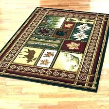 rustic cabin area rugs lodge style log patriotic