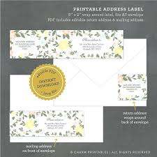 Invitation Cards Samples For Weddings Printable Floral Address Label ...