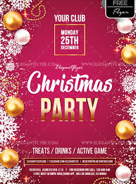 Christmas Party Free Psd Flyer Template Psdflyer Co