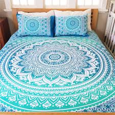 details about ombre mandala duvet cover king size indian quilt cover cotton throw doona cover