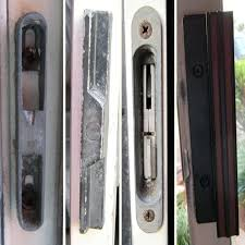 sliding glass door handles replacements installing sliding glass door handle with new bolts andersen sliding glass