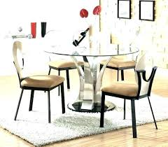 glass kitchen table and chairs round glass table set 5 piece glass dining table set 5