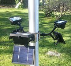 Flag Lights Pole Extreme Commercial Solar Flagpole Light 360 Degrees