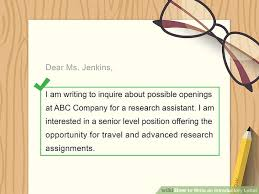How To Write An Introductory Letter 12 Steps With Pictures