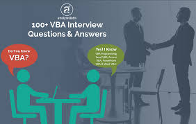 100 Vba Interview Questions And Answers With Examples