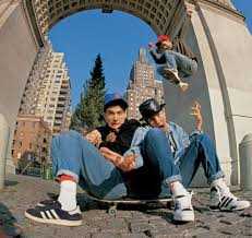 photos capture post punk and hip hop icons before they made it big  beastie boys hang out in new york s washington square park in 1986 photo by glen