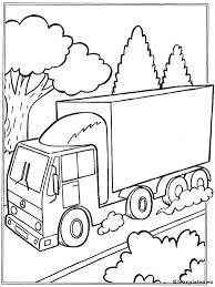 Vrachtwagens Kleurplaten Kleurplateneu