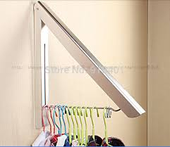 Stainless Steel Wall Hanger Retractable Indoor Clothes Hanger Magic  Foldable Drying Rack Waterproof Clothes Towel Rack-in Bathroom Shelves from  Home ...