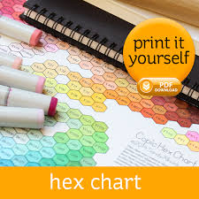 Copic Hex Chart Copic Copic Markers Tutorial Copic Markers