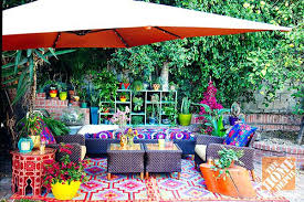 eclectic outdoor furniture. Boho Outdoor Furniture Decorating Ideas A Lush Eclectic Bohemian La Patio Table . C