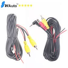 aliexpress com buy 6m video cable av cable 2 5mm jack rca 6m video cable av cable 2 5mm jack rca connector for portable gps car