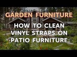how to clean vinyl straps on patio