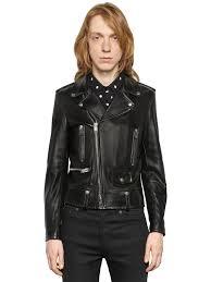 saint lau l01 classic motorcycle leather jacket black men clothing jackets yves saint lau earrings