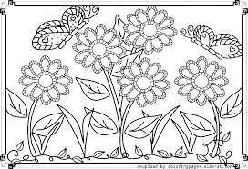Printable Coloring Book Pages Flowers Coloring Games Movie