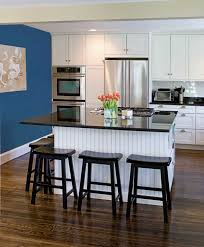 Dark Laminate Flooring In Kitchen Stylish Kitchen Wall Art With Blue Walls Also Modern Painting And