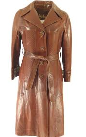 skin gear womens leather trench coat h30n 1