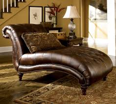 Living Room Brown Wooden Table Fireplace Gray Sofa Gray Floor - Chaise lounge living room furniture
