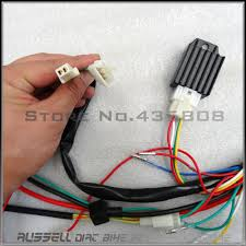 full electrics wiring harness cdi ignition coil rectifier switch 110cc 125cc atv quad bike buggy gokart in atv parts accessories from automobiles