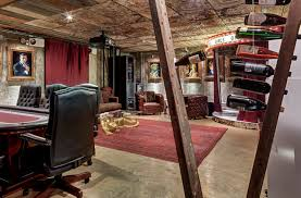 Dallas High End Man Cave industrial-basement