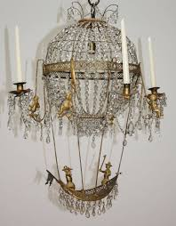 european 18th century pair of montgolfier chandeliers for